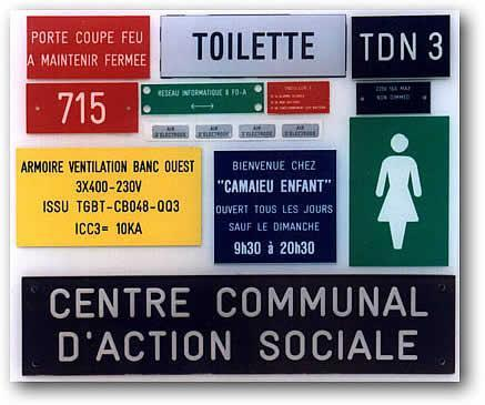gravure plaque et panneau signalisation visibilit e. Black Bedroom Furniture Sets. Home Design Ideas